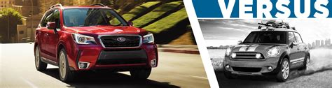 compare subaru forester models compare 2017 subaru forester vs mini cooper countryman
