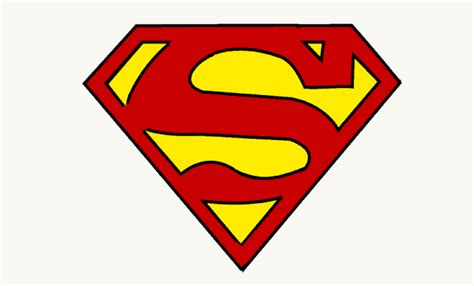 tutorial logo superman how to draw superman logo easy step by step drawing guides