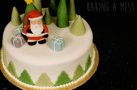 christmas cake decoration the basics baking a mess