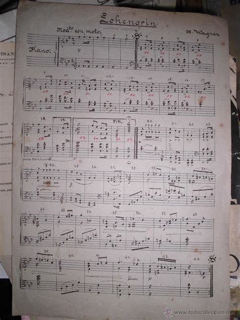 imagenes partituras antiguas partitura antigua manuscrita lohengrin de r wag comprar