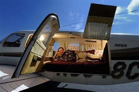 airplane with beds unusual places to sleep 39 pics