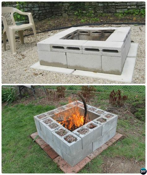 diy pit directions diy cinder block garden projects