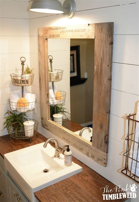 Ideas For Bathroom Mirrors by Best 25 Pallet Mirror Ideas On Bathroom