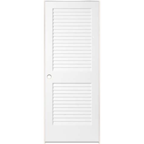 White Louvered Closet Doors Shop Reliabilt White Prehung Plantation Louver Pine Interior Door Common 24 In X 80 In Actual