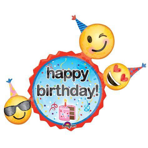 Balon Foil Emoji Birthday emoji wishes jumbo foil balloon birthdayexpress