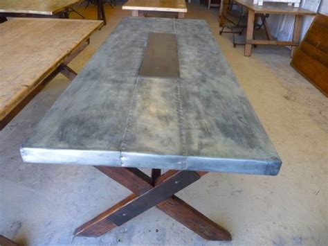 zinc table legs and tops on pinterest