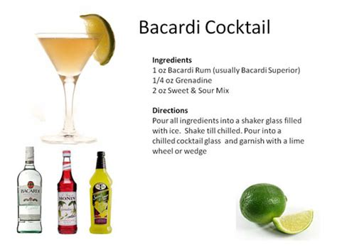 martini bacardi tropical cocktails midnight mixologist