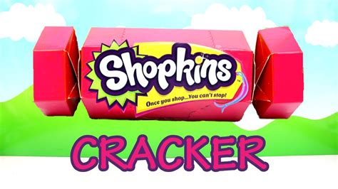 shopkins christmas cracker with shopkins in real life