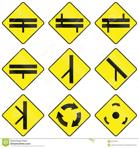 printable irish road signs warning road signs in ireland stock illustration image