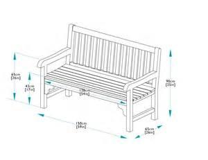 150cm teak park bench bridgman