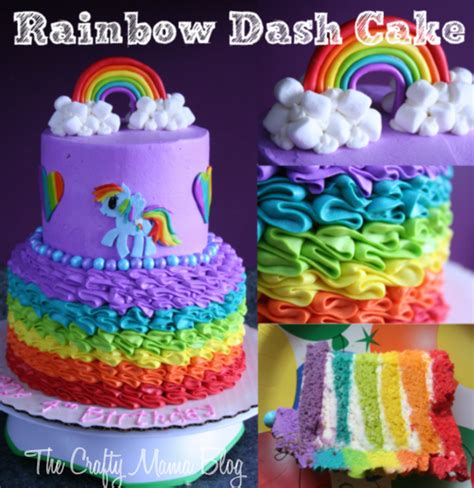 my little pony cakes part one rainbow dash crafty mama