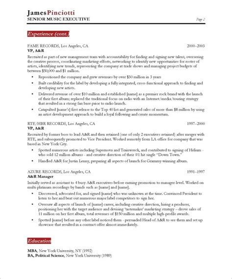 Dj Resume by Dj Resume Sle Best Professional Resumes Letters