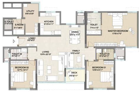 Typical House Floor Plan Dimensions apartment floor plans embassy pristine 3 bhk flats in