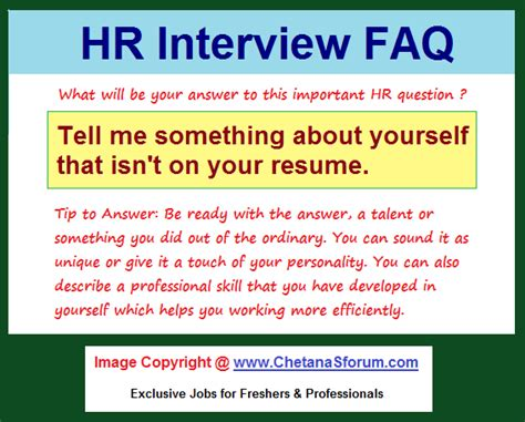 Tell Me About Your Resume Question Hr Faq Tell Me Something About Yourself That Isn T On Your Resume Hr Helpline