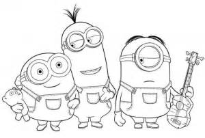 Minion mask colouring pages