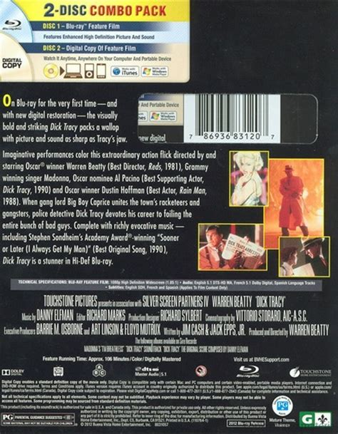 on dvd blu ray copy reviews dick tracy blu ray digital copy blu ray 1990 dvd