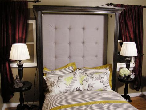 How To Make A Tufted Headboard Hgtv How To Make A Upholstered Headboard With Buttons