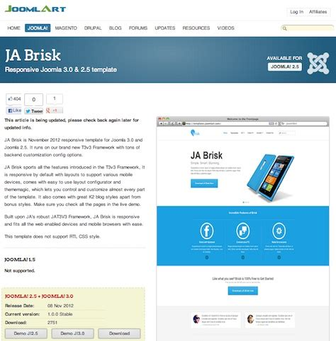 free joomla template 3 0 free and premium joomla 3 0 templates