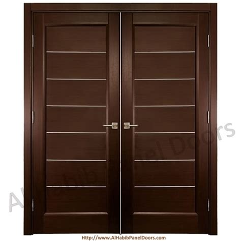 Pakistani Kitchen Design by Diyar Solid Wood Main Double Door Hpd412 Main Doors Al