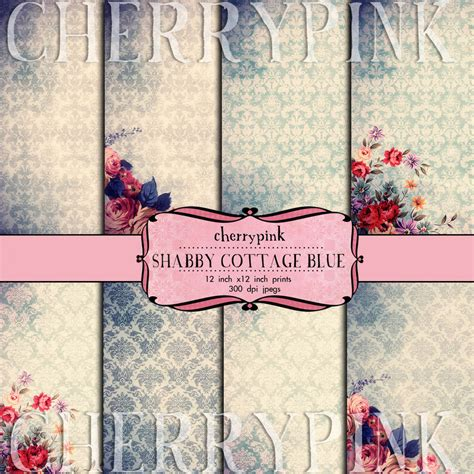 Scrapbook Cottage by 12 X 12 Scrapbook Papers Shabby Cottage Blue By Miabumbag