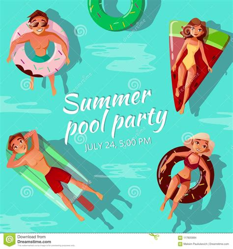 pool party invitation royalty  stock image