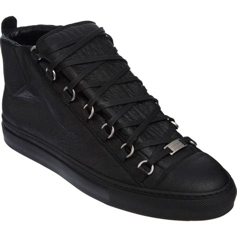balenciaga arena sneaker balenciaga arena high top sneaker in black for lyst