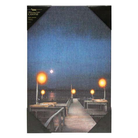 flickering light canvas wholesale ohio wholesale 36852 18 quot x 12 quot x 3 4 quot quot lighted pier