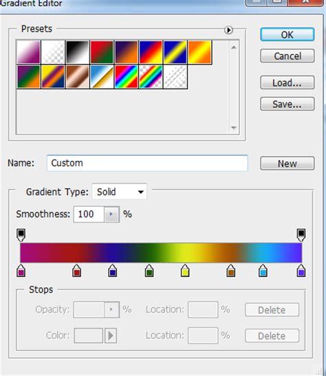 kumpulan tutorial adobe photoshop cara membuat efek pelangi atau rainbow dengan adobe
