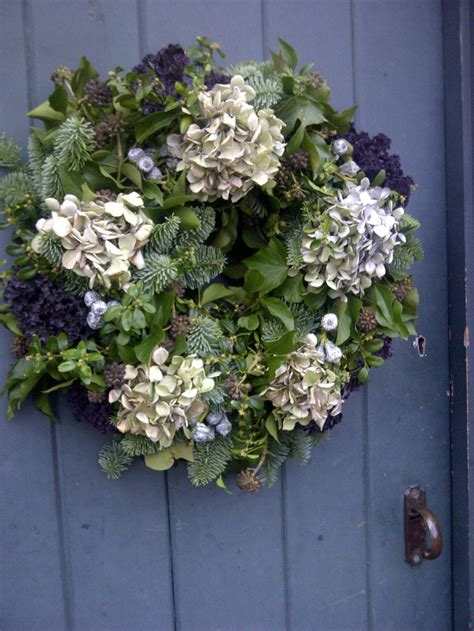 Dried Wreaths Front Door Wreaths Outstanding Hydrangea Wreaths Hydrangea Wreath Etsy Hydrangea Wreath For Front Door