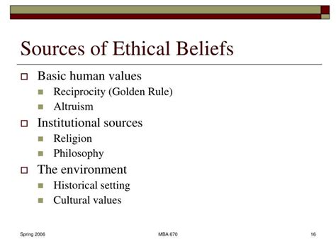 Explain The Different Sources Of Mba by Ppt Introduction To Ethics Powerpoint Presentation Id 2281