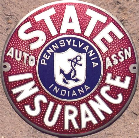 Automobile Club Inter Insurance 5 by Porcelain Auto Club Badges Pennsylvania