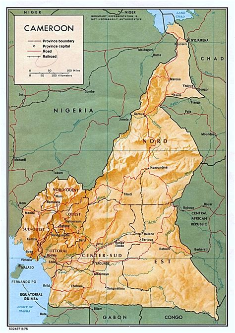yaounde africa map cameroon maps perry casta 241 eda map collection ut