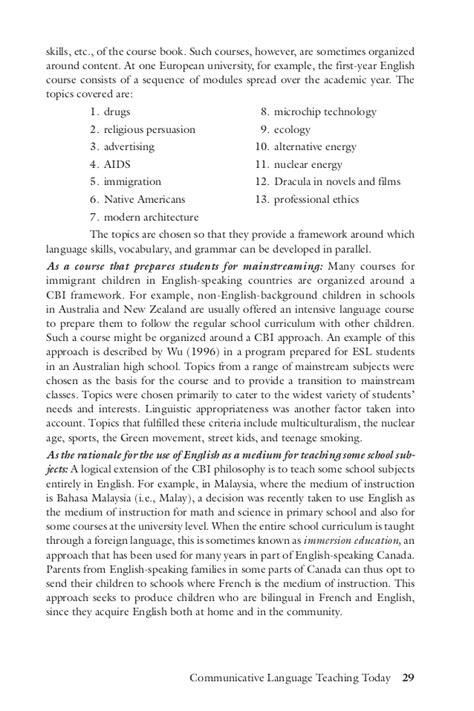 Lvl Rona Pantskirt Abu richards communicative language teaching