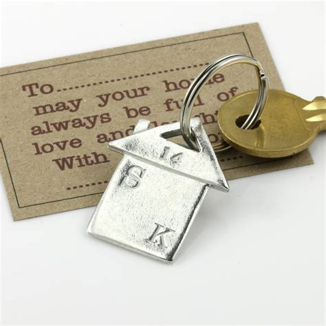 new home gift housewarming gift personalised keyring by
