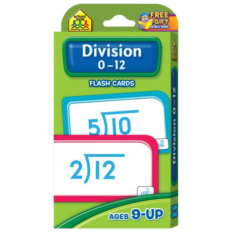 zoetoys flashcards math division division flash cards 0 12 will help master this