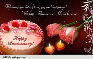 anniversary to a cards free anniversary to a ecards 123 greetings