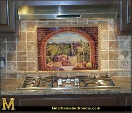 kitchen wall mural ideas decorating theme bedrooms maries manor tuscany vineyard