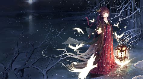 anime girl winter wallpaper original full hd wallpaper and background image