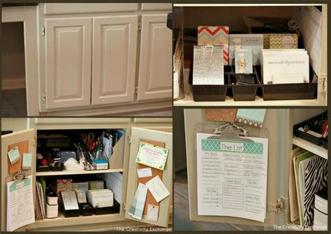 kitchen office organization ideas easy kitchen cabinet mini office organize