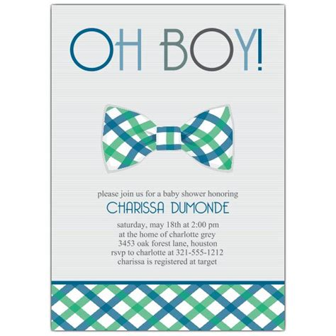 Nino Mustache By Z Shop bowtie baby shower invitations paperstyle
