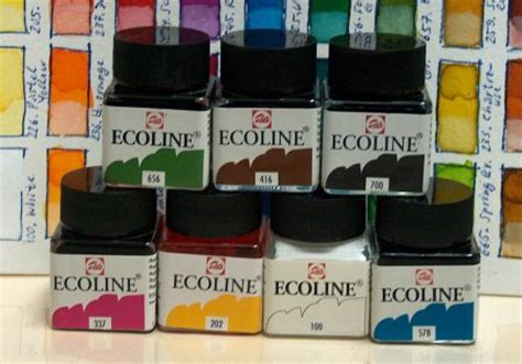 Royal Talens Ecoline Liquid Watercolour Set 8 Jar X 30m Promo talens ecoline brands of hobby craft colors on