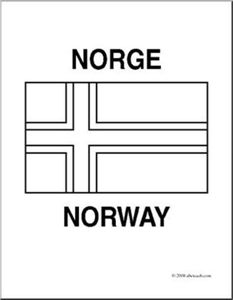 clip art flags norway coloring page abcteach