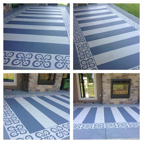 patio paint painted patio with patio concrete paint blue and a stencil stenciled concrete