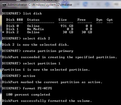 diskpart format unit linkspk useful links
