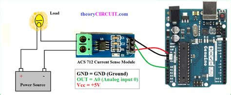 hall effect current sensor circuit  arduino