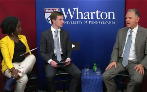 Wharton Mba 2006 Data Providers a global conversation with wharton dean geoff garrett