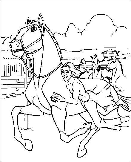 coloring pages spirit the wild horse picture 1
