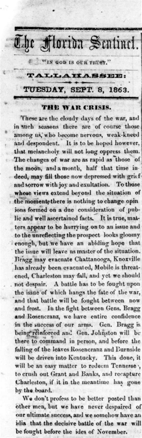 records from missouri newspapers 1861 1865 the civil war years books florida memory newspaper clipping about the civil war in