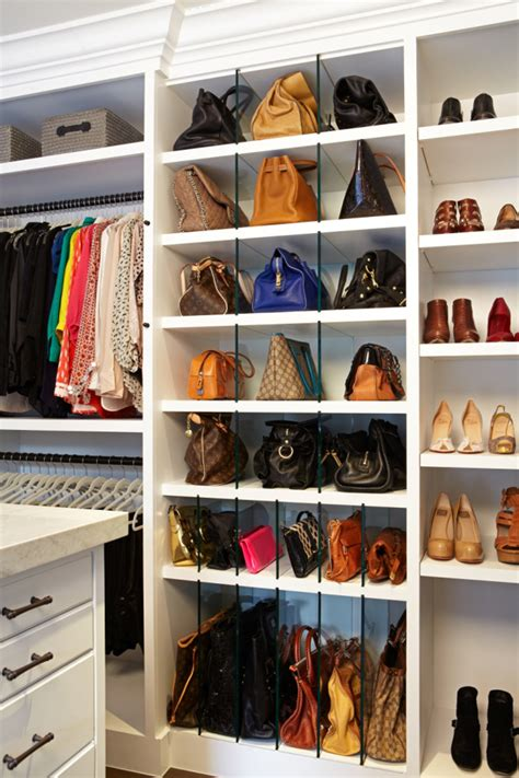 How To Organise Bags In Closet by These Vertical Dividers For Handbags Are A Great Idea To
