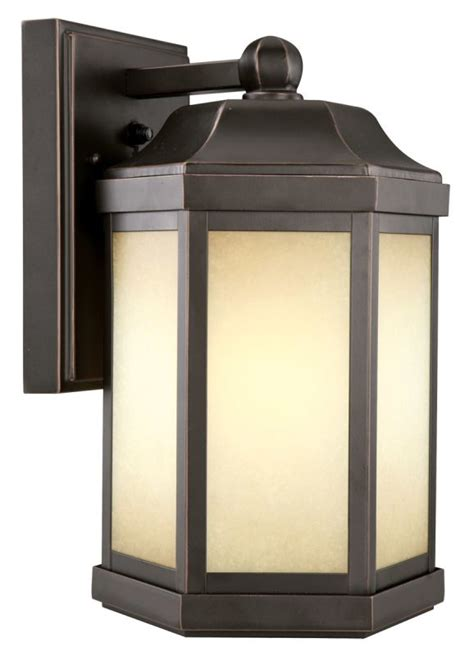 Design House 514992 Oil Rubbed Bronze Single Light Down Photocell Outdoor Wall Light